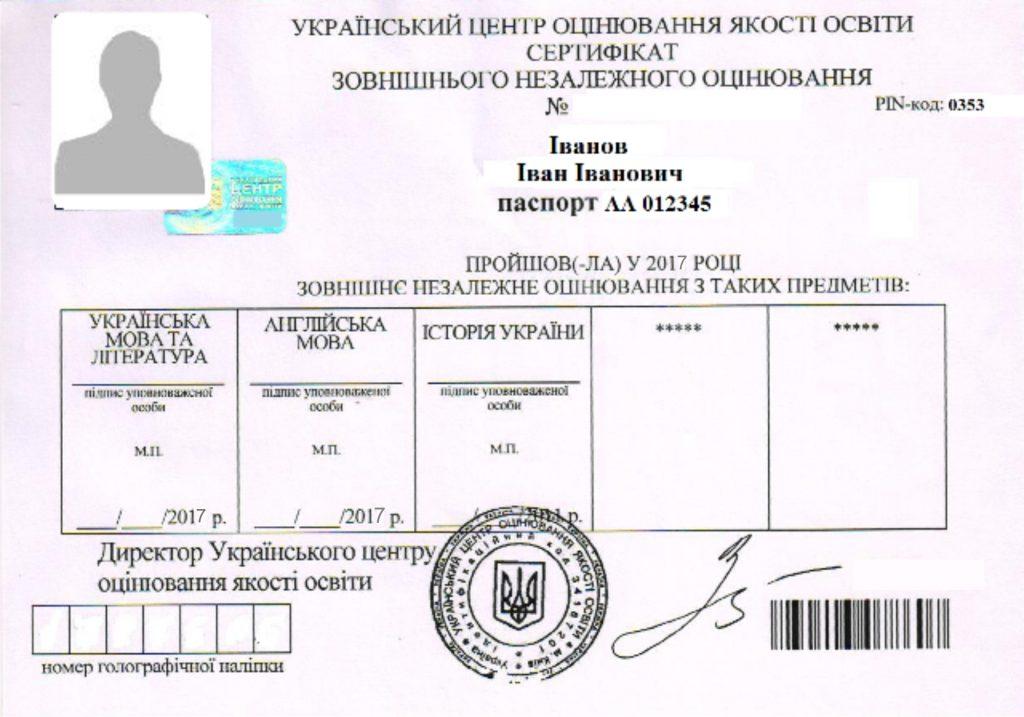 Сертифікати ЗНО яких років приймаються в 2019 р | ZNO.org.ua